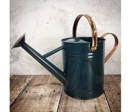 Heritage Blue & Copper Metal Watering Can (3.5 Litre)