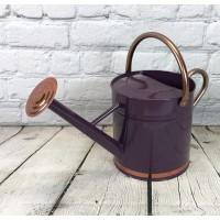 Heritage Heather & Copper Metal Watering Can with Rose (9 Litre)
