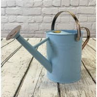 Duck Egg Blue & Copper Metal Watering Can (3.5 Litre)