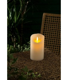 Battery Operated LED Flame Effect Candle - 12.5cm by Gardman