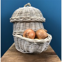 Wicker Onion Storage Hopper