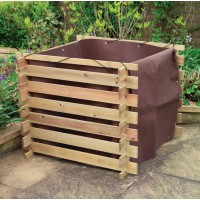 Wooden Slatted Compost Bin Liner by Gardman