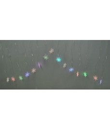 15 Snowflake Curtain LED Lights (Battery) by Premier