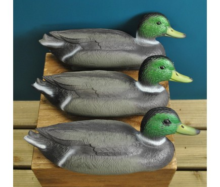 Mallard Duck Hunting Shooting Floating Decoy Pond Decoration Large (Set of 3)