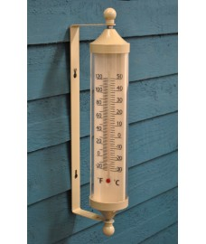 Large Tube Thermometer in Clay by Garden Trading