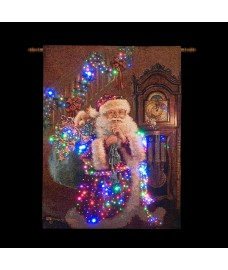 Santa with Gifts Christmas Scene Tapestry by Transcon
