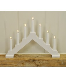 White Christmas Candle Bridge Light (Battery Powered) by Kingfisher