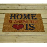 Home Is Where The Heart Is Design Coir Doormat by Gardman