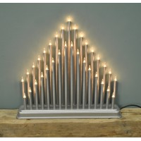 Christmas Modern Tower Candle Bridge (Mains Powered) by Premier