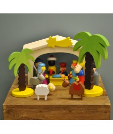Wooden Nativity Christmas Set by Premier