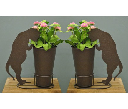 Set of 2 Silhouette Cat Standing Pot Holders