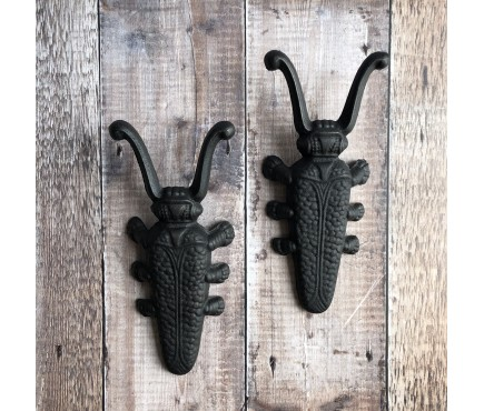 Set of 2 Cast Iron Beetle Boot Jacks