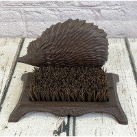 Cast Iron Hedgehog Boot Brush Shoe Scraper