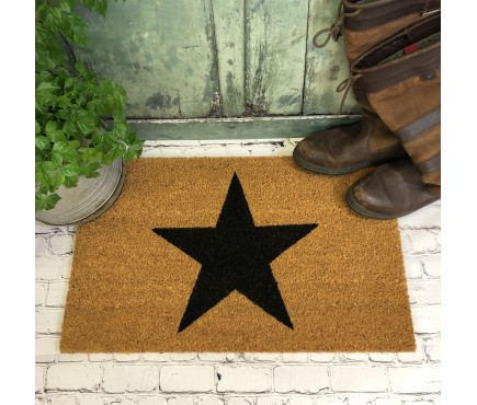Charcoal Star Indoor & Outdoor Coir Doormat
