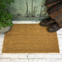 Large Natural Coir Indoor & Outdoor Doormat (40cm x 70cm)