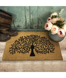 Tree of Life Indoor & Outdoor Coir Doormat