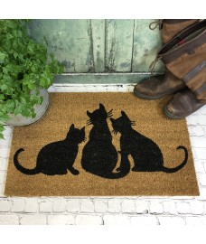 Cat Family Indoor & Outdoor Coir Doormat