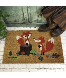 Woodland Fox Indoor & Outdoor Coir Doormat