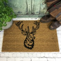 Stag Head Indoor & Outdoor Coir Doormat