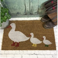 Ducks in Boots Coir Doormat