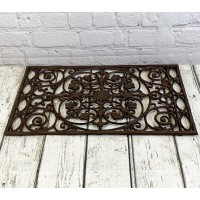 Ornate Cast Iron Indoor & Outdoor Doormat