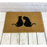 Cat Silhouette Indoor & Outdoor Coir Doormat