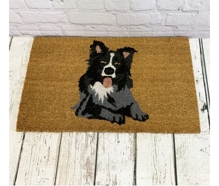 Border Collie Dog Indoor & Outdoor Coir Doormat