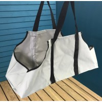Canvas Log Carrier in French Grey