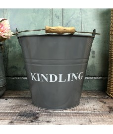 Fireside Kindling Bucket in French Grey