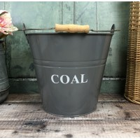 Fireside Coal Bucket in French Grey
