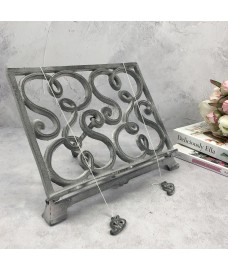Cast Iron Grey Cookbook Stand