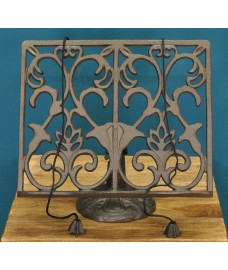 Cast Iron Ornamental Kitchen Cook Book Stand Recipe Card Holder