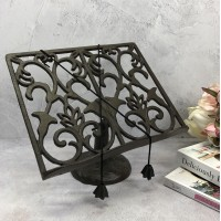 Cast Iron Floral Cookbook Stand