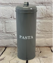 Pasta Storage Tin In French Grey