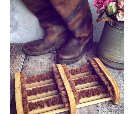 Double Wooden Boot Brush