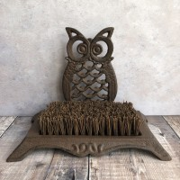 Cast Iron Owl Boot Brush