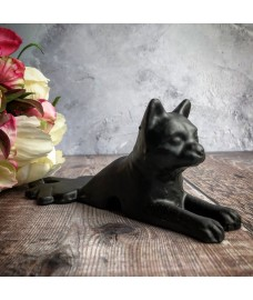 Cast Iron Cat Design Door Stop Wedge by Fallen Fruits