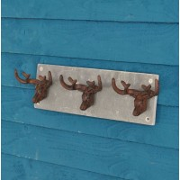 Cast Iron & Slate Stag Antler Hooks by Fallen Fruits