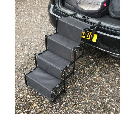 Heavy Duty Lightweight Foldable Pet Dog Access Steps with Carry Strap