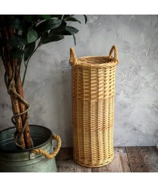 Woven Willow Wicker Umbrella and Walking Stick Basket Holder