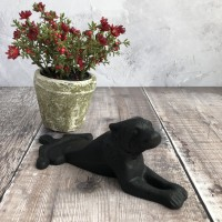 Black Dog Wedge Doorstop