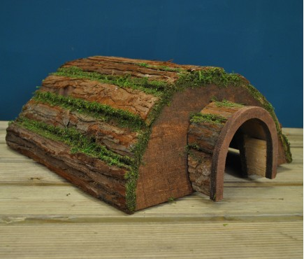 Wooden Barkwood Hogitat Hedgehog House Shelter