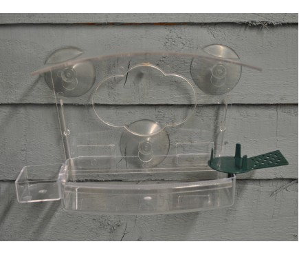 Selections All In One Complete Window Bird Feeder with Fatball Feeder and Water Dish