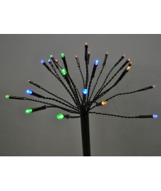 Set of 5 Multi Action Sparkler Style Led Path Lights with Timer (Battery Operated)
