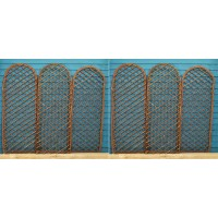 Set of 6 Willow Trellis With Curved Top (120cm x 45cm)