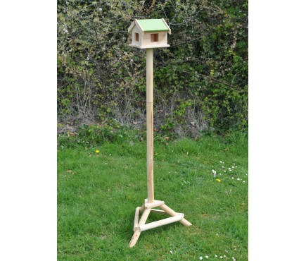 Pigeon Proof Wooden Bird Table with Ground Spikes