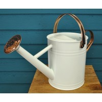 Cream & Copper Metal Watering Can (4.5 Litre)