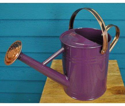 Purple Heather Metal & Copper Watering Can (4.5 Litre)