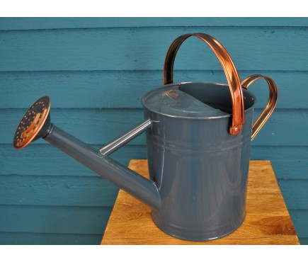 Heritage Blue & Copper Metal Watering Can (4.5 Litre)