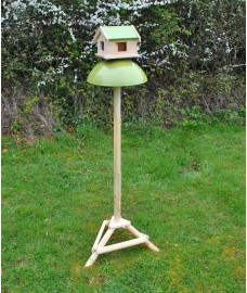 Squirrel and Pigeon Proof Bird Table with Metal Baffle and Ground Spikes